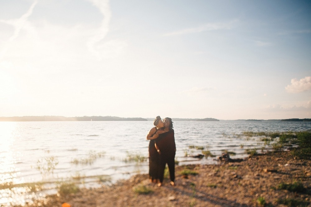percy priest sunset couple session Lexington wedding photographer