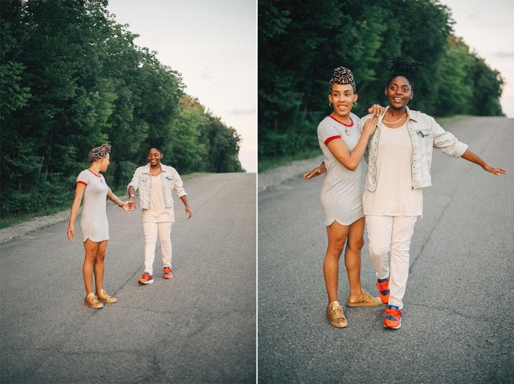 percy priest sunset couple session Lexington wedding photographer