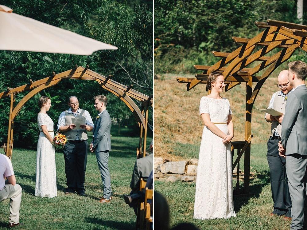 wedding ceremony at brahma ridge