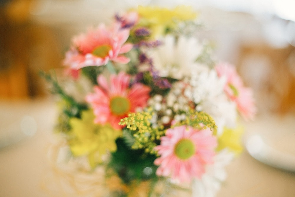 pink, yellow and green wedding flowers