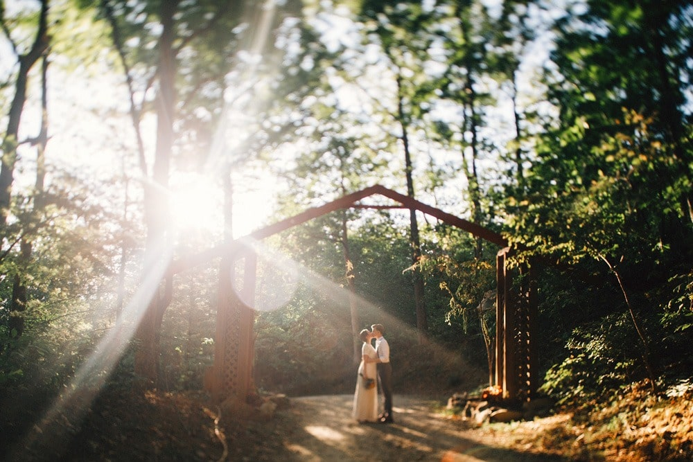 married couple under entrance to brahma ridge