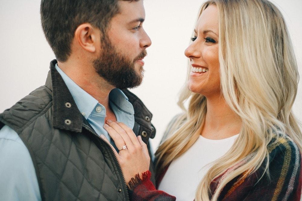 foggy chattanooga overlook engagement Lexington wedding photographers