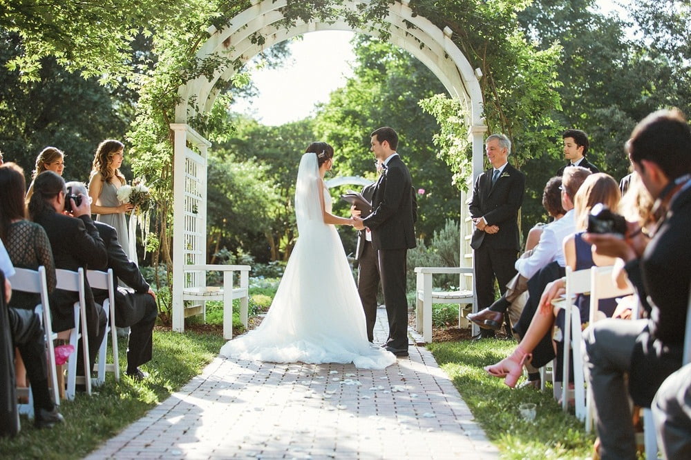 wedding ceremony at lewis ginter botanical gardens