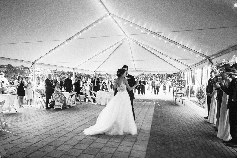 first dance under tent lewis ginter botanical gardens