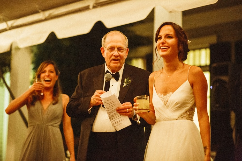 wedding toast at lewis ginter botanical gardens