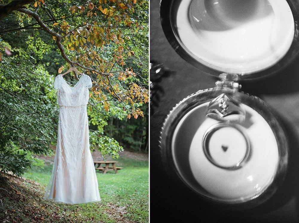 bride's details dress rings