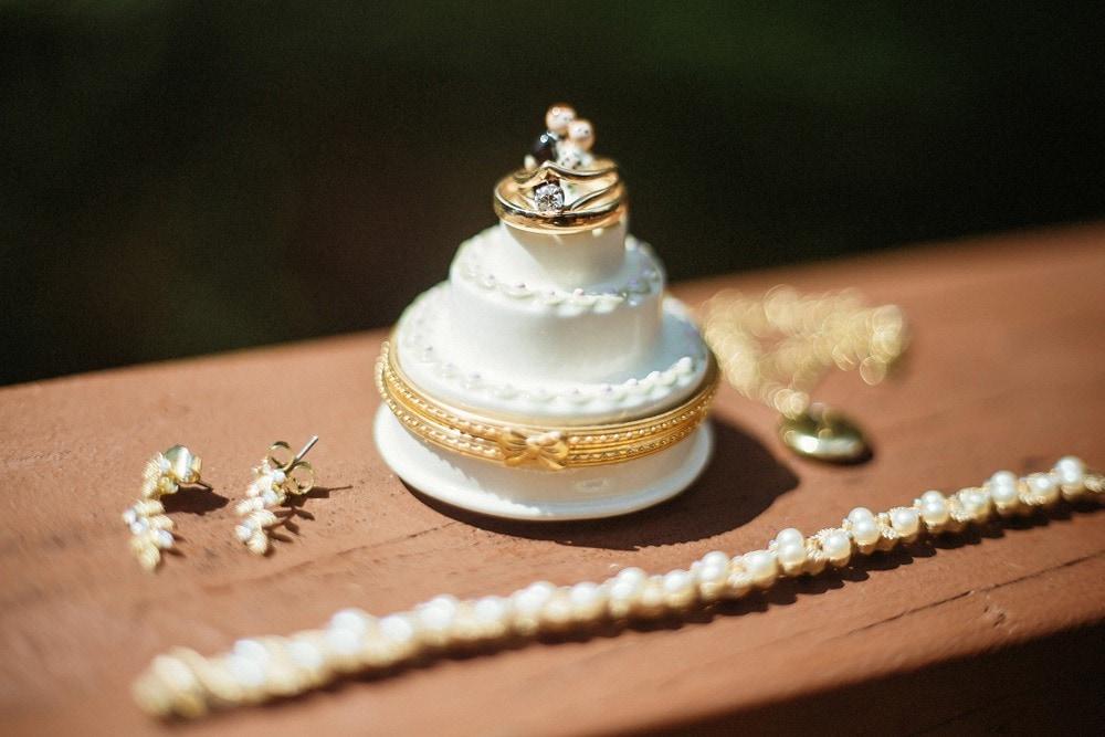 jewelry box and bridal jewelry