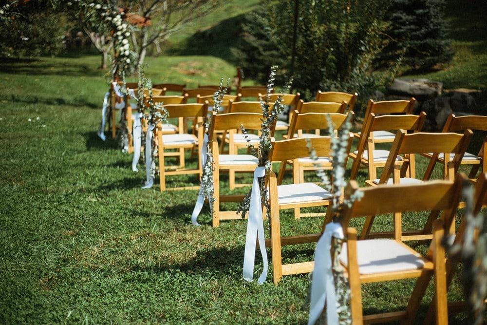 wedding ceremony chairs at brahma ridge event center