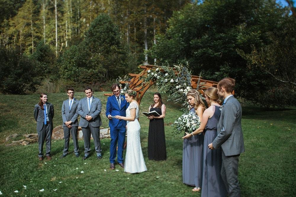 wedding ceremony at brahma ridge event center