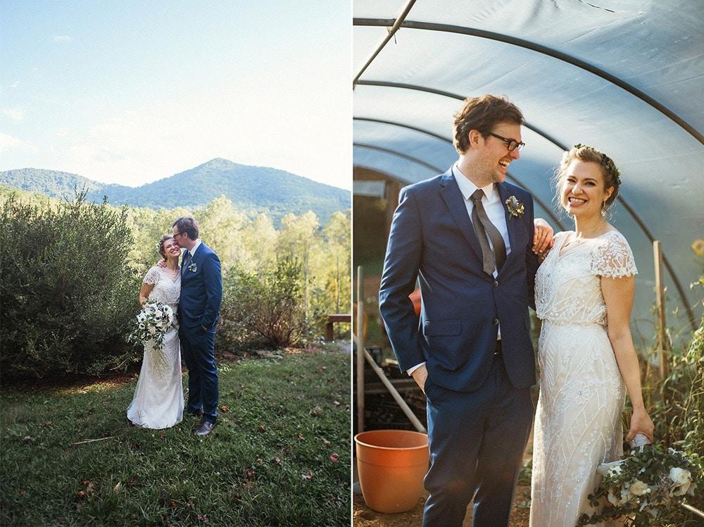 wedding couple at brahma ridge event center