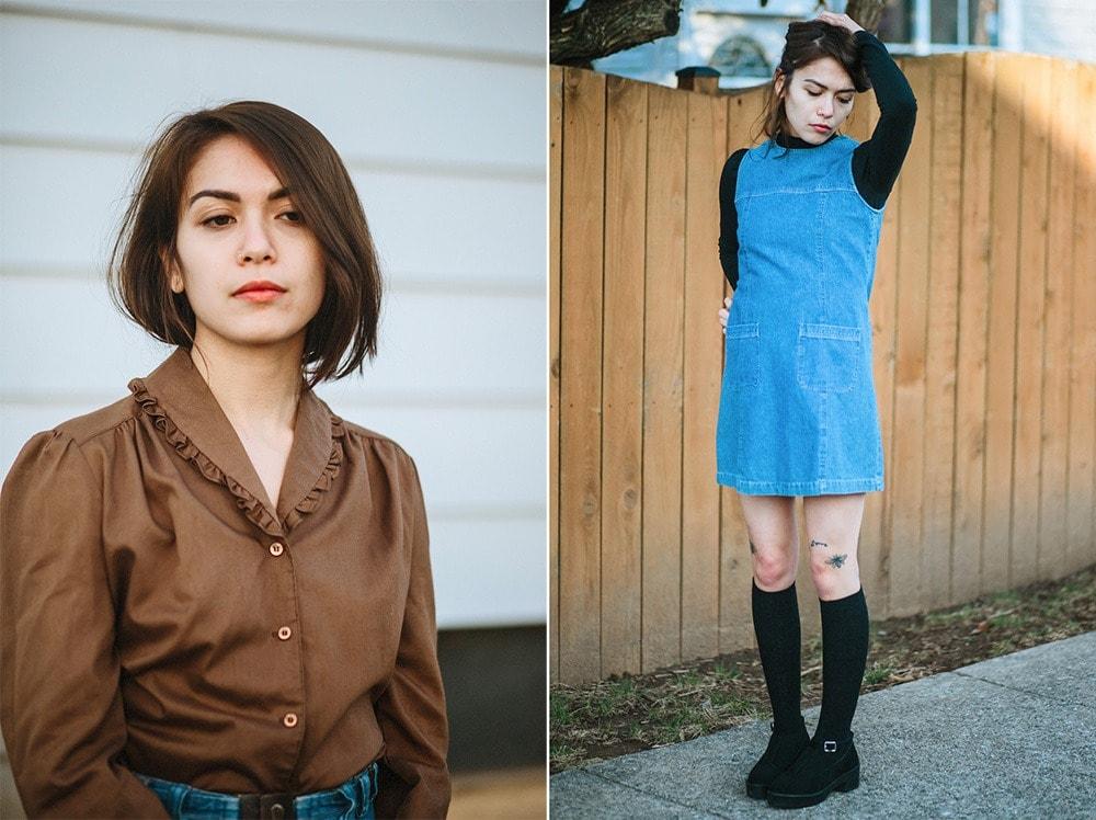 model vintage clothes