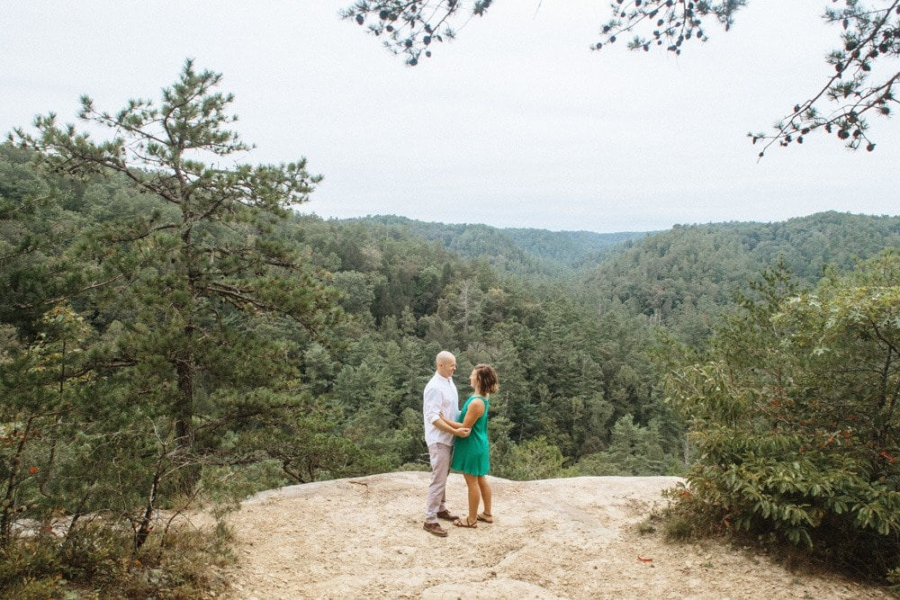 copperas falls engagement red river gorge wedding photographers
