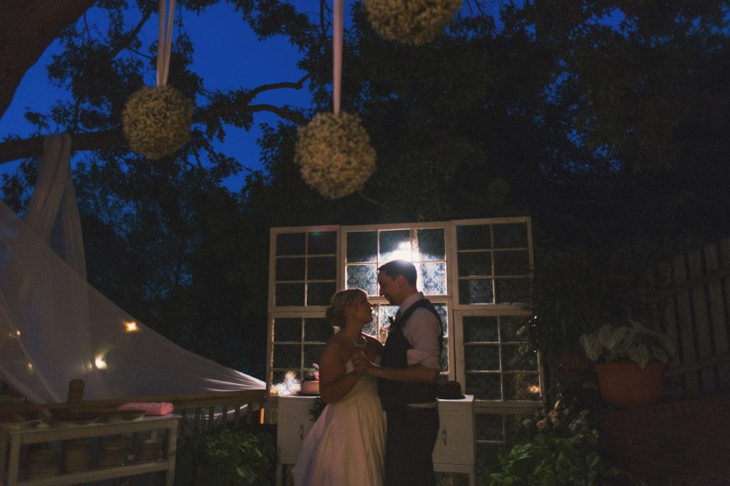 first dance blue hour outdoors