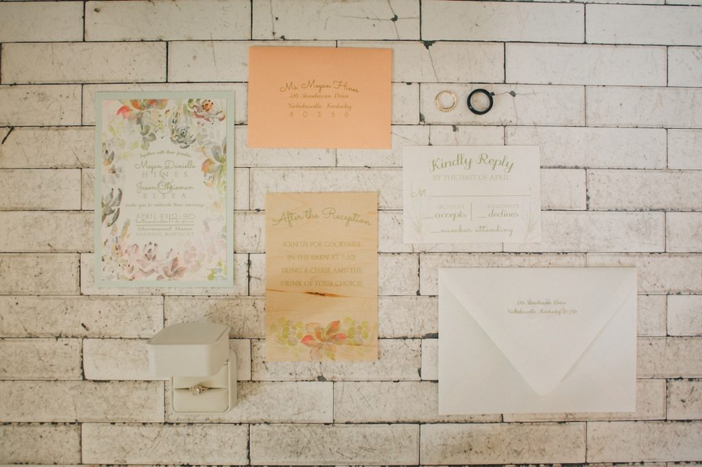 wedding invitation stationary
