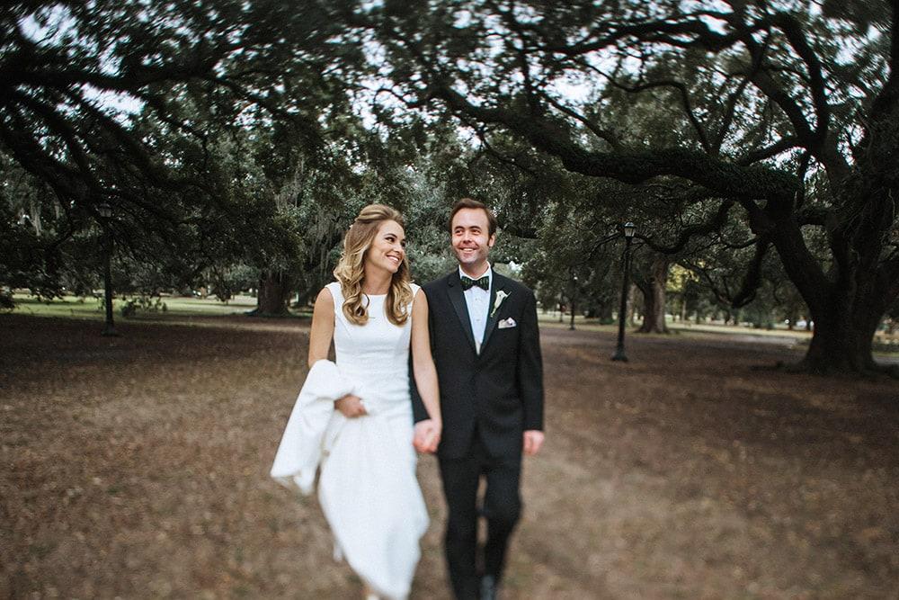 bride and groom audubon park