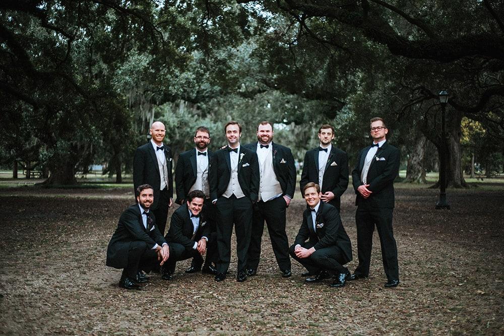 groom and groomsmen audubon park