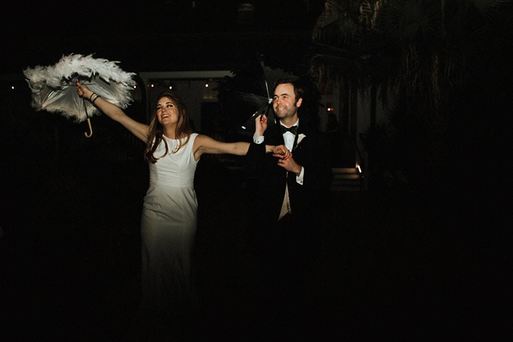 wedding reception second line exit