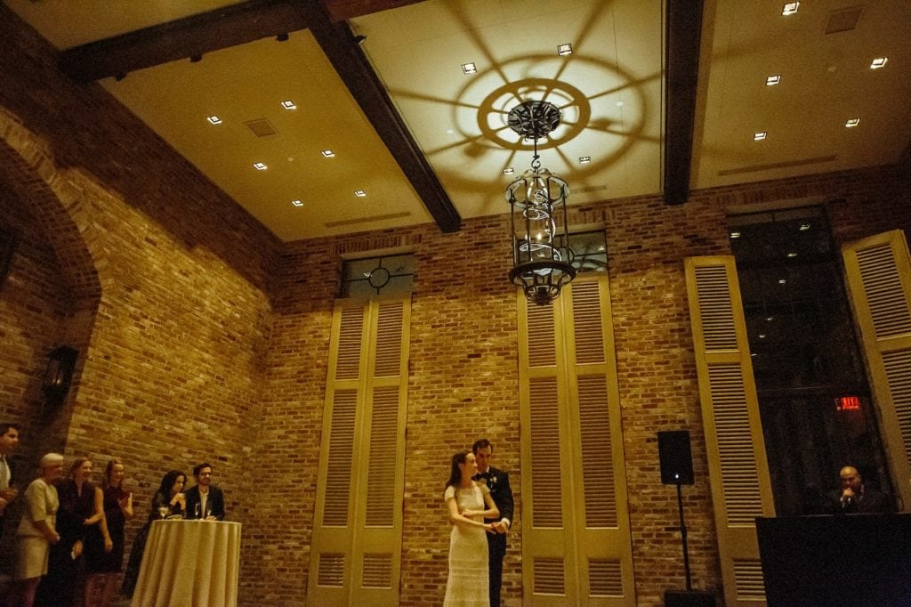 indoor historic wedding reception