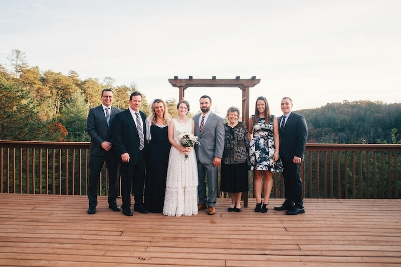 wedding formal portrait at red river gorge