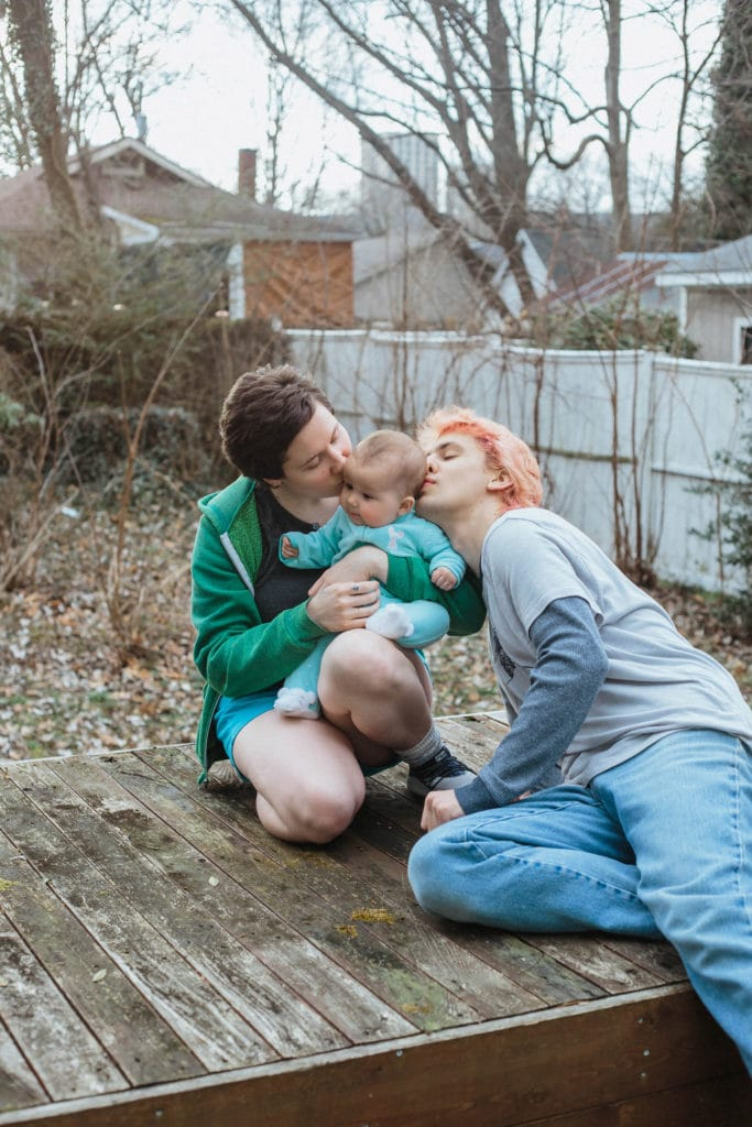 mothers kissing child lexington