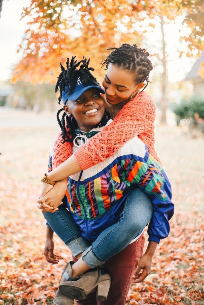 stylish couple engagement shoot