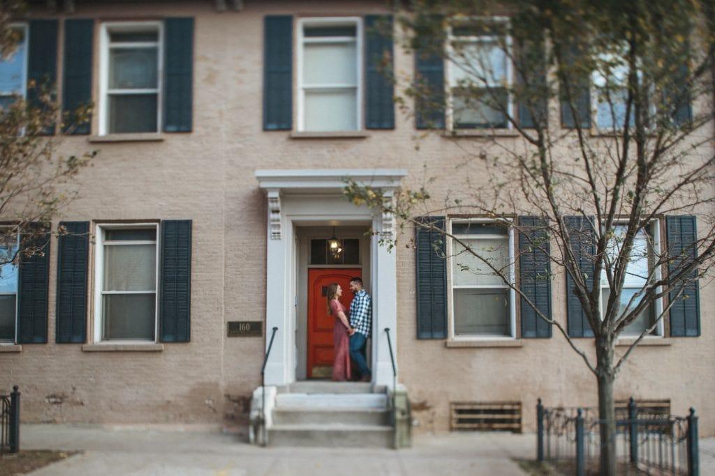 couple in doorway downtown lexington