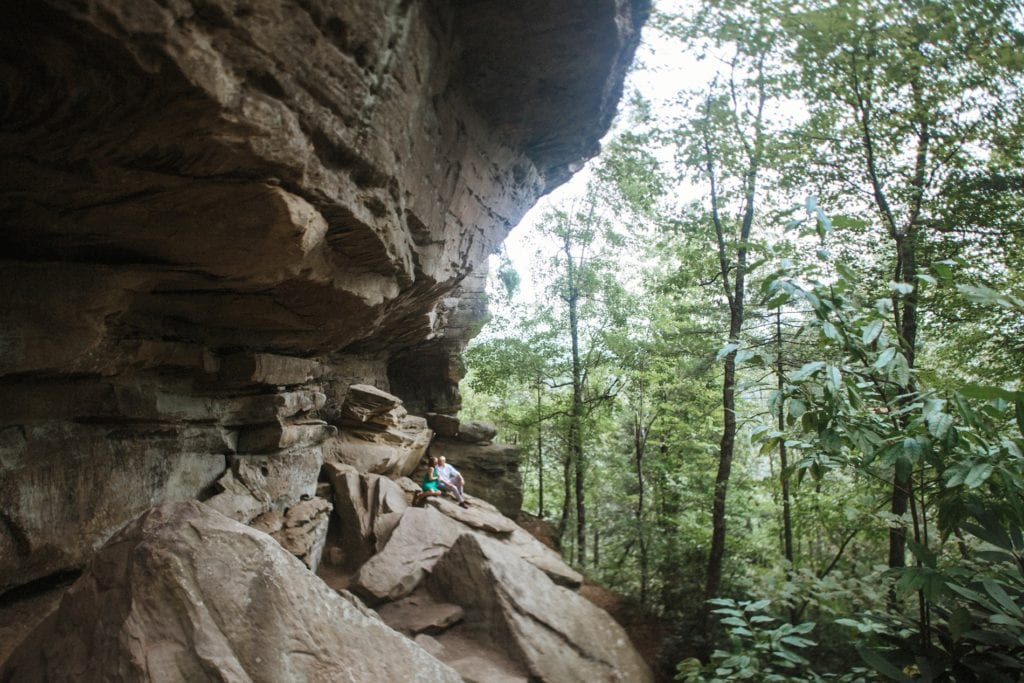 red river gorge engagement photos