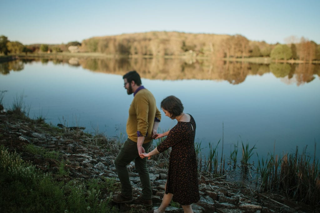 bernheim forest lake engagement couples