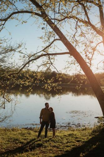 bernheim forest lake engagement