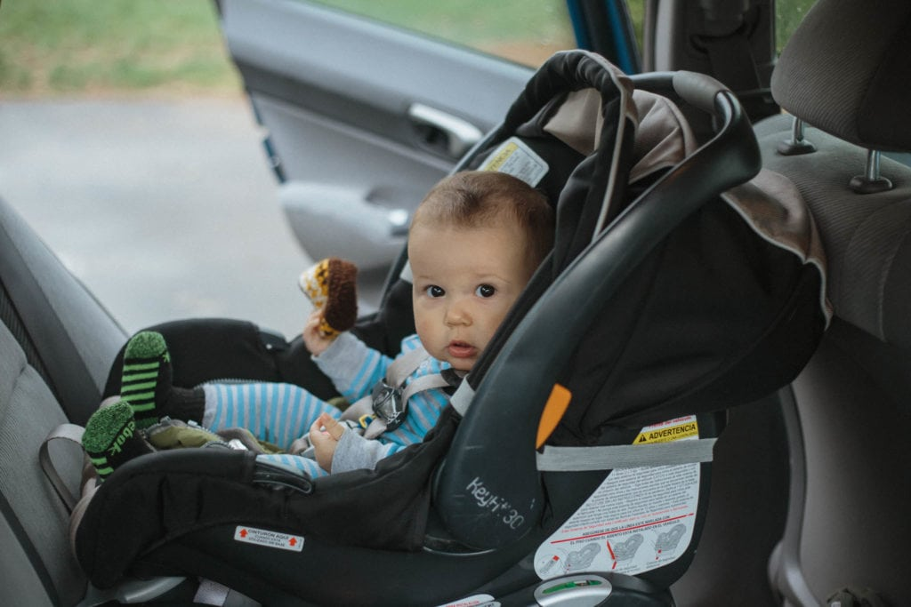 roscoe in car seat