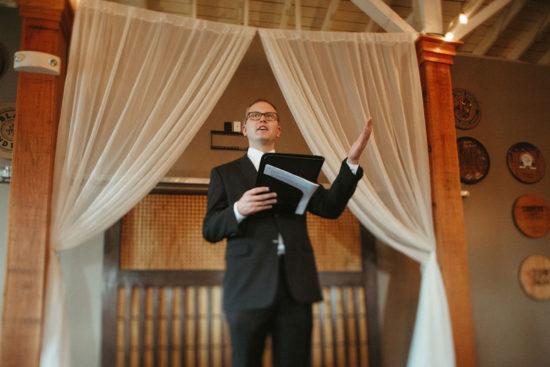 manchester music hall wedding alter