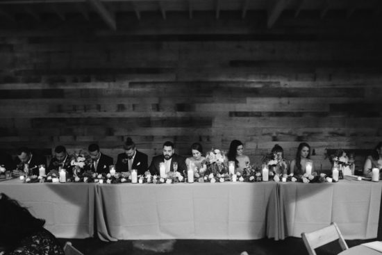 wedding party seated