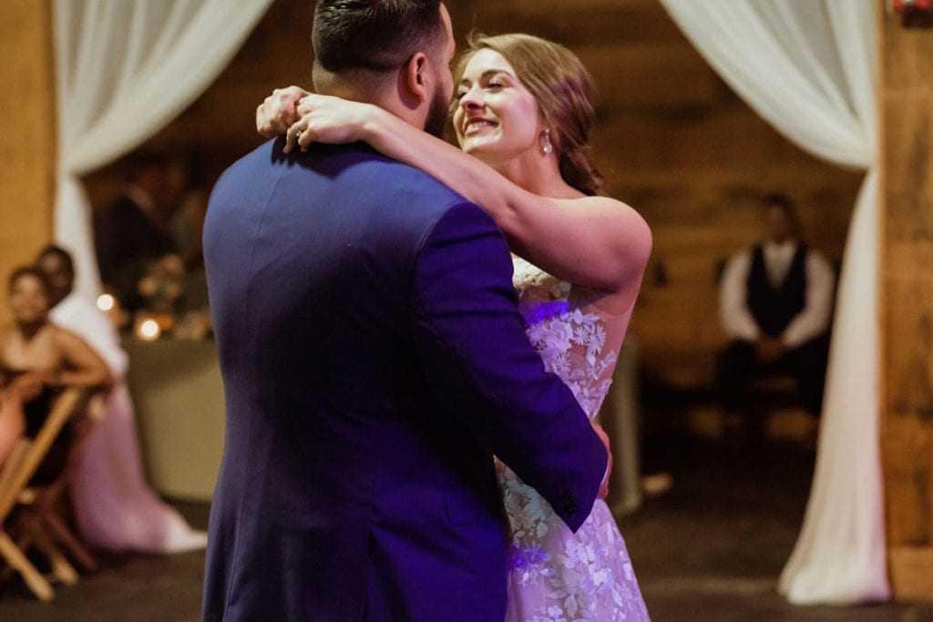bride and groom first dance manchester music hall