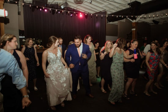 couple dancing at wedding reception manchester music hall