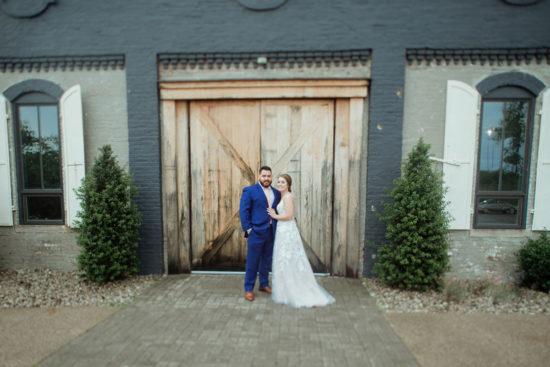 lexington distillery district wedding portrait