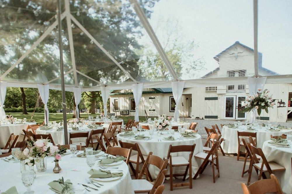 polo barn at saxony farms wedding reception