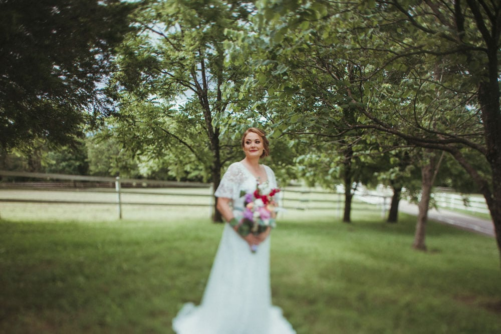 bridal portrait at terrapin hill farm