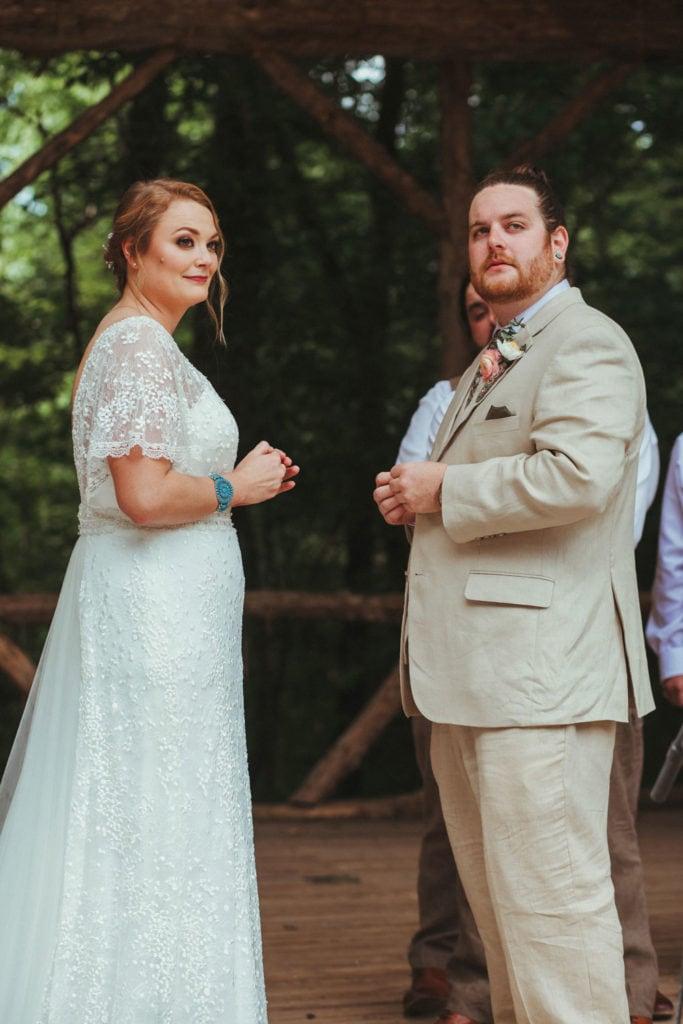 bride and groom terrapin hill wedding