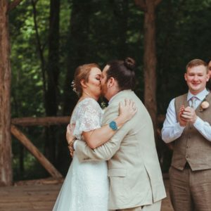 first kiss as a married couple