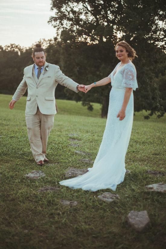wedding couple at terrapin hill