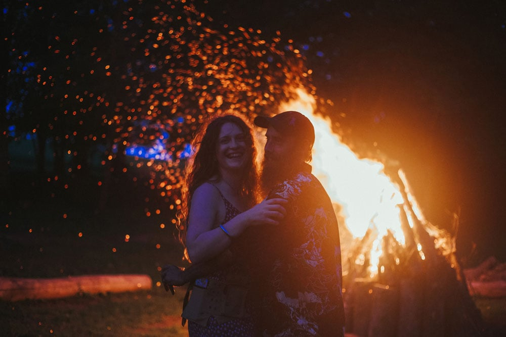 campfire at terrapin hill wedding reception