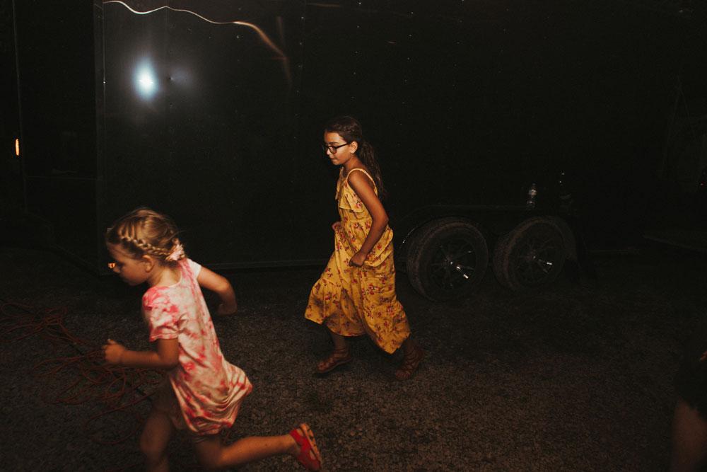 children playing at wedding reception