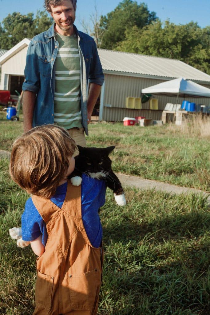 rough draft farm boy and cat