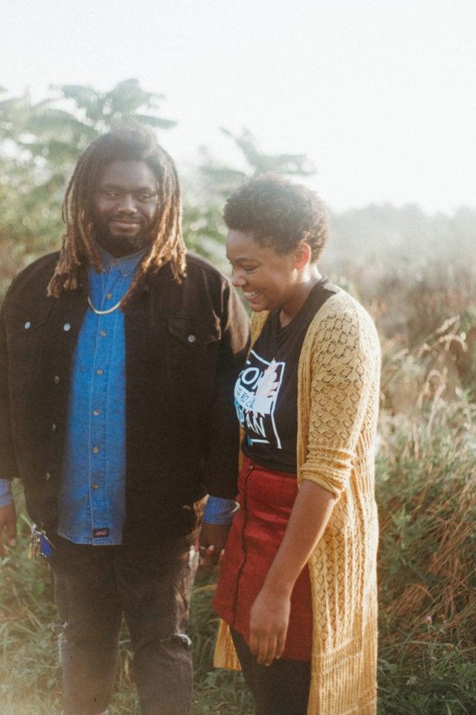 couple at hisle farm park