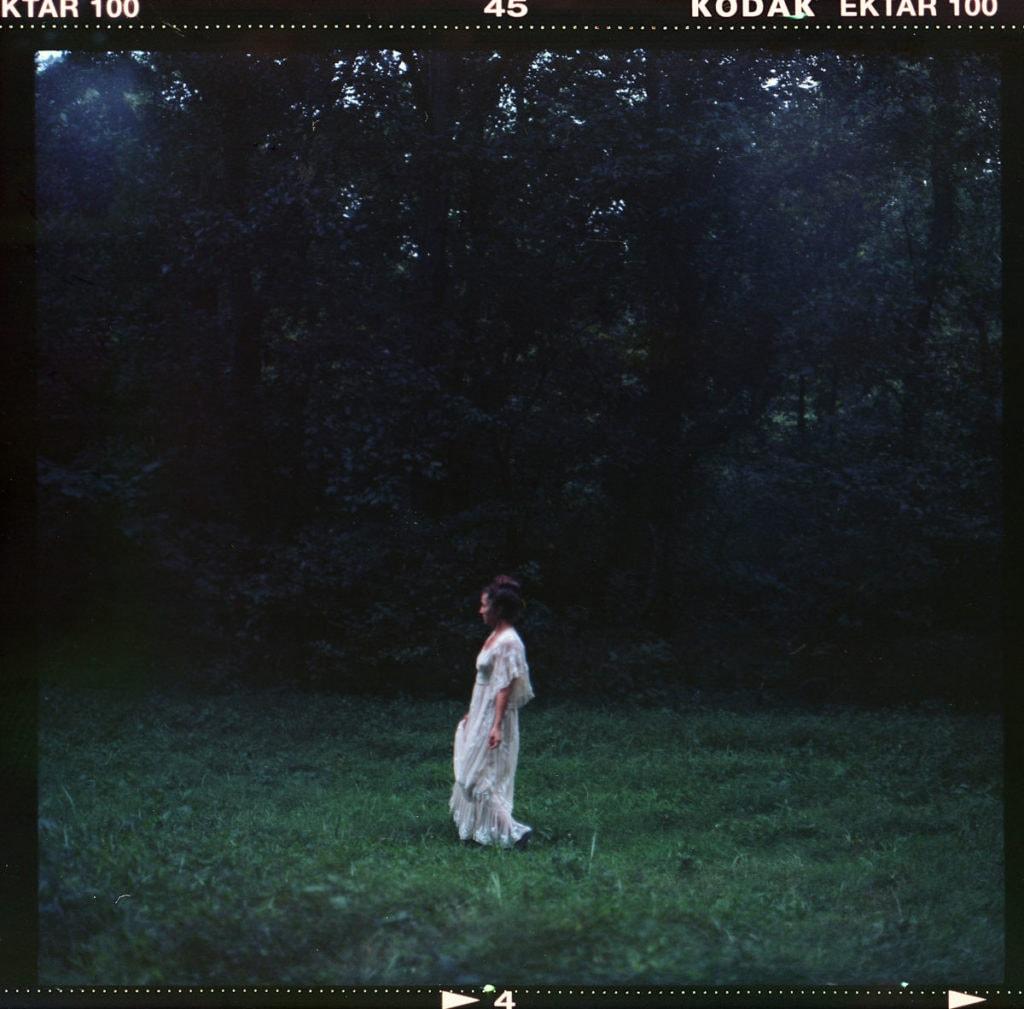 120mm color film photo of bride