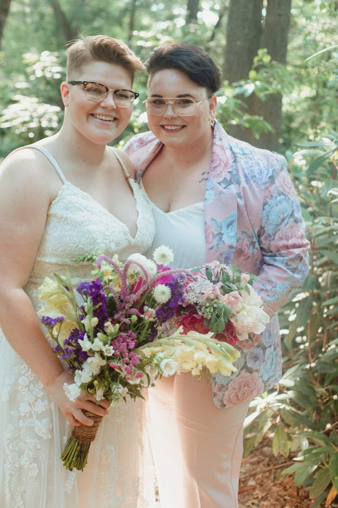 queer elopement couple portrait