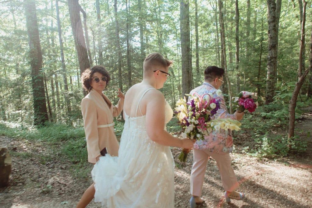queer wedding procession