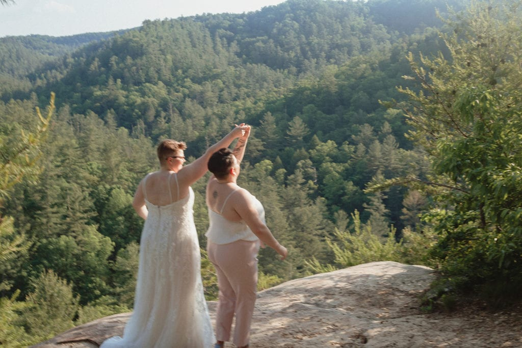 queer wedding first dance red river gorge