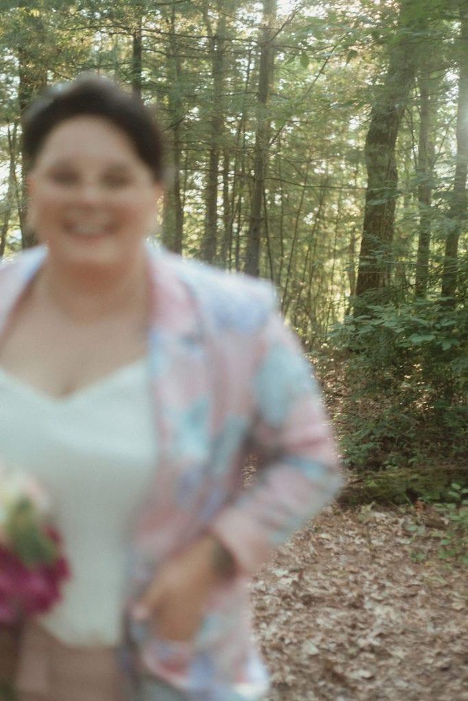blurry wedding photo