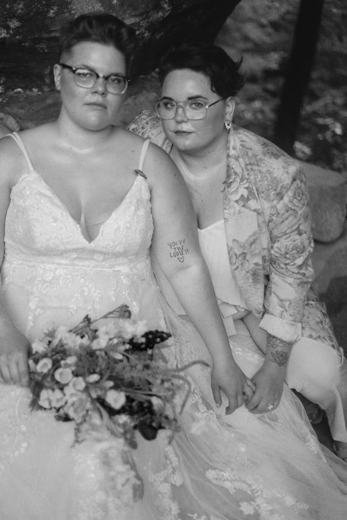 queer wedding portrait